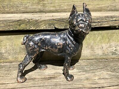 Antique Cast Iron Door Stop Dog Terrier