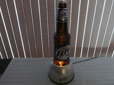 MILLER LITE BEER SIGN LIGHTED BUBBLER with floating caps COOL