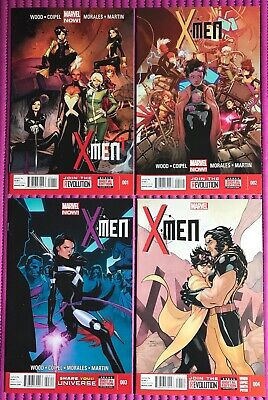 X-MEN #1 2 3 4 LOT of 4 Marvel 2013 Morales