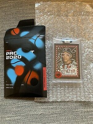 Topps PROJECT 2020 Willie Mays 1952 Custom Signed By Efdot, Painted Box 1/1 RARE