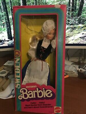 1982 Mattel Swedish Barbie Doll #4032