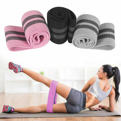 Fabric Resistance Bands Butt Exercise Loop Hip Legs Glutes Yoga Circle Home
