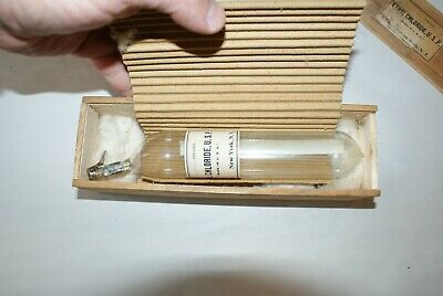 Very Rare Antique Vintage Medical 1924 Apothecary Tube Bottle with Original Box