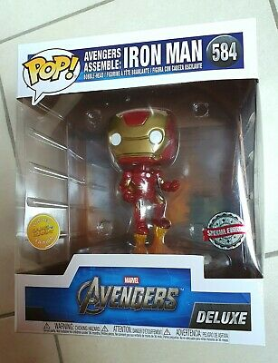 Funko PoP! Avengers Assemble IRON MAN #584 DELUXE Special Edition Games Academy
