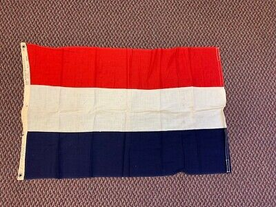 VINTAGE LUXEMBOURG, ANNIN DEFIANCE  2 X 3 FLAG on Cotton Cloth