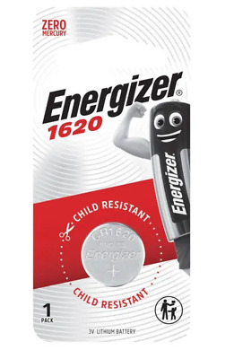 Energizer 1620 - 1 PACK 3V Lithium Coin/Button Cell Batteries  Zero Mercury