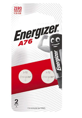 Energizer A76 Alkaline 2-Pack Coin/Button Cell Batteries  Zero Mercury