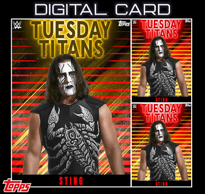 2020 TUESDAY TITANS GOLD + 2X RED STING TOPPS WWE Slam Digital