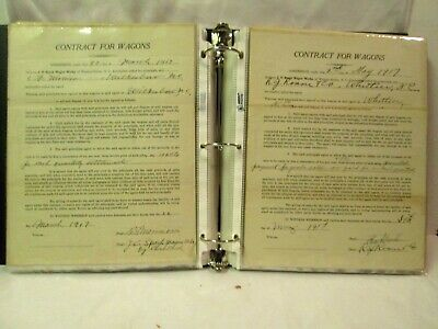 Awesome Lot Of 193 Old Antique Wagon Contracts