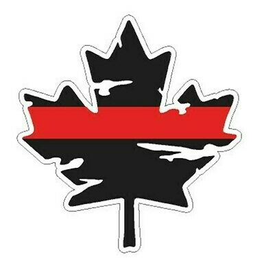"""Maple Leaf with Red Line"" Sticker **FREE SHIPPING**"