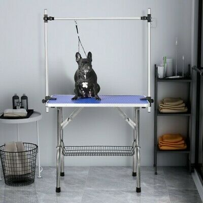 "Large Size 46"" Grooming Table for Pet Dog and Cat with Adjustable Arm and Clamp"