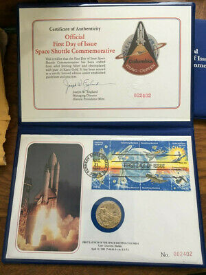 Space Shuttle Columbia commemorative frist day sets