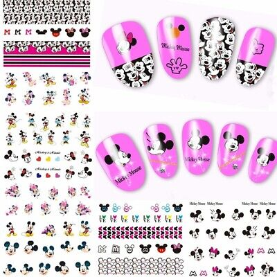 ❤️Lot Economique 150 Stickers Disney Ongles Water Decals Manucure Nail Art