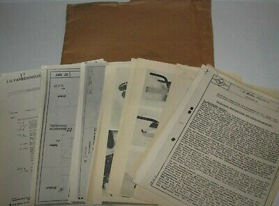 1945 US Armed Forces Wolfen film factory (AGFA) German WWII BLUEPRINTS DOCUMENTS
