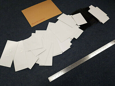2kg off cuts 1,1.5, 2, & 3mm Thick Plasticard HIPS mostly White and some black