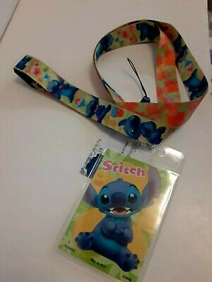 Lilo and Stitch Character Lanyard Keychain ID Badge Holder Disney New