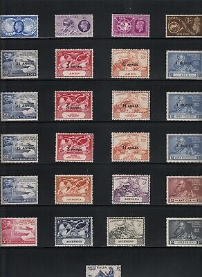 1949 UPU Stamp Collection - 229 Different Mint Inc Hong Kong