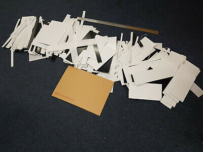5kg off cuts 0.25, 0.5, 0.75,1,1.5, 2, & 3mm Thick Plasticard HIPS Black & White