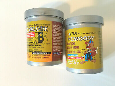 PC Products PC-Woody Wood Repair Epoxy Paste Two-Part 12oz in Two Cans Tan 16333