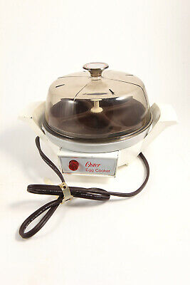 Oster Electric Egg Cooker Poacher Automatic 580-188 Tested Working
