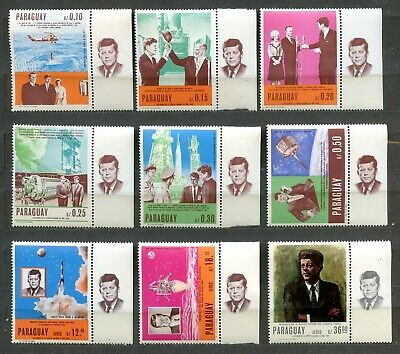 PARAGUAY  JOHN F. KENNEDY MEMORIAL SPACE SET MNH With Tabs