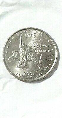 Usa Stati Uniti America Quarter Dollar 25 Cent 1788-2001 New York