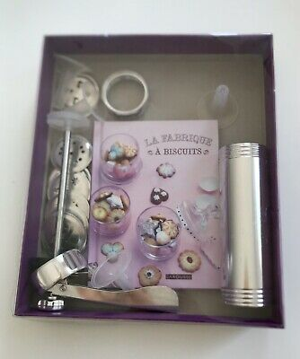 French Biscuit Cookie Piping Kit With Recipe Book Complete In Original Box