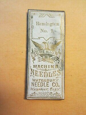3 Remington Sewing Machine Needle, Size #1, 1 Pack of 3