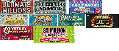 50 California Lottery Tickets $30, $20, & $10, Mix for 2nd Chance, FREE SHIPPING