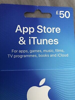 Apple Itunes £50 UK GBH Only Gift Card Voucher App Store And Itunes