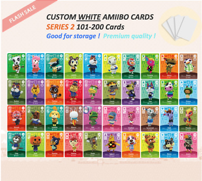 Series 2 Custom White NFC Amiibo Cards for Animal Crossing - 101 to 200