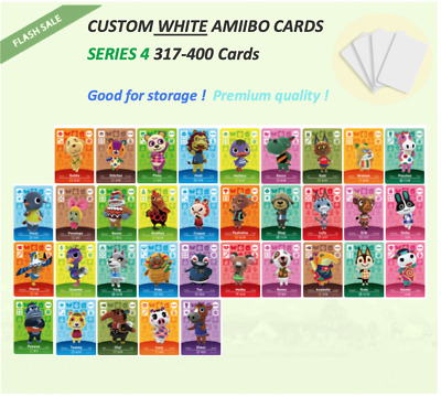 Series 4 Custom White NFC Amiibo Cards for Animal Crossing - 301 to 400