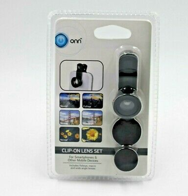 Clip-on Fish Eye 3 in 1 Wide Angle Macro Lens Camera Lens Kit For Samsung/iPhone