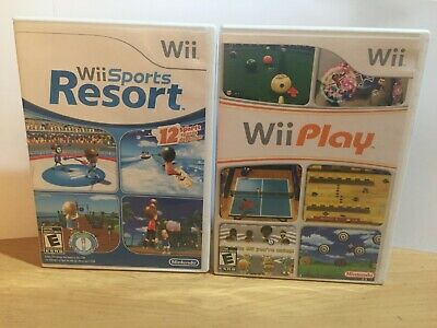 Wii Sports Resort and Wii Play Lot of 2 Games TESTED (Nintendo Wii) READ!