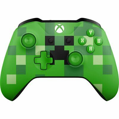 Official Microsoft XBOX ONE & ONE S Wireless Controller MINECRAFT Creeper Green