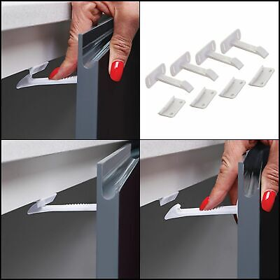 Dreambaby Adhesive Safety Latches for Drawers & Cabinets, White, 4 Count - New
