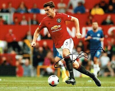 Harry MAGUIRE Signed Autograph 14x11 Photo B AFTAL COA Manchester United Man Utd