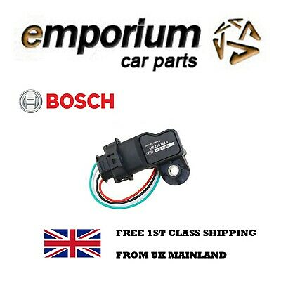 Bosch MAP Intake Manifold Boost Air Pressure Sensor 0281002576 W/ Plug Connector