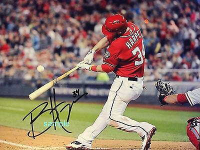 Bryce Harper Reprint 8X10 Autographed Signed Photo Picture Washington Nationals