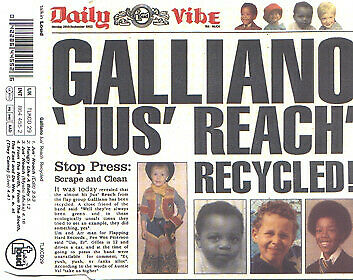ID1177z - Galliano - Jus' Reach Recycled - TLKCD29 - CD - uk