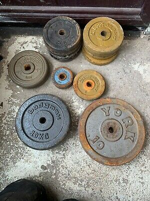 CAST IRON WEIGHT LIFTING WEIGHTS Used
