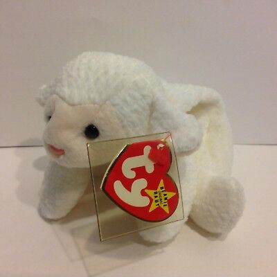 Ty Beanie Baby Fleece the white lamb NWMT