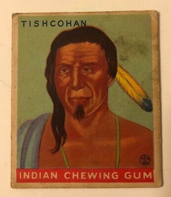 1933 Goudey Indian Chewing Gum #165 Tishcohan Delaware Chief Trading Card VG
