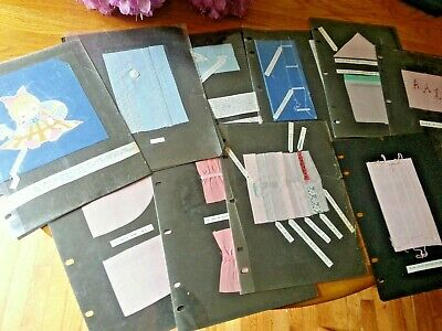 Several pages vintage sewing instruction example Applique Sewing Machine Stitch