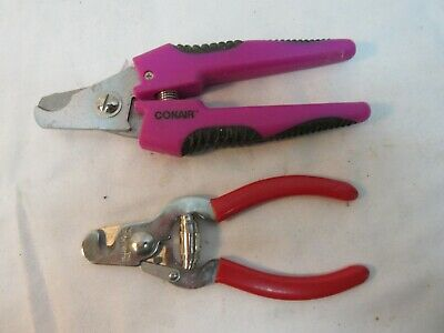 2 pr. Animal Toe Nail Clippers Cat Dog - CONAIR & Millers Forge