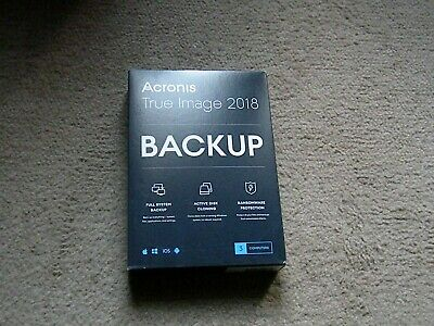 New Acronis True Image 2018 PC/Mac 1 Computer Backup&Recovery,Sealed Retail Box!
