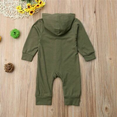 Latest Cute Baby Kids Boys Girls Infant Hooded Rompers Active Cotton With Button