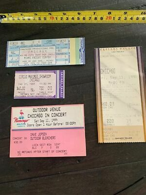 CHICAGO the band Set of 4 Concert Ticket stubs.  1989, 1993, 1998, 1999