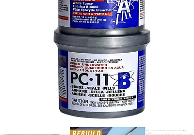 PC-Products PC-11 Epoxy Adhesive Paste, Two-Part Marine Grade, 1lb in Two Can...