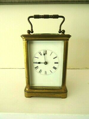 Antique French carriage striking clock